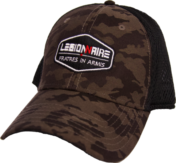 brown camo mesh cap